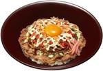 牛丼に焼きそばをドーン!すき家で「お好み牛玉丼」の進化系「広島Mix」