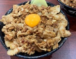伝説のすた丼屋……これでもか……ニンニク8倍 肉汁油丼