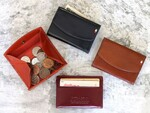 カード、小銭、紙幣をコンパクトに収納できる手のひらサイズの財布