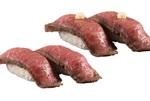 かっぱ寿司、豪華肉ネタ「黒毛和牛」寿司