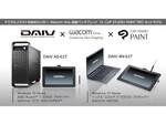 DAIVブランドのPCとワコム製13.3型タブレット、デジタルペイントソフトのセットモデル発売