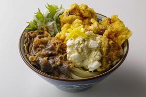 【本日発売】丸亀製麺で肉×肉の「牛肉タル鶏天ぶっかけうどん」