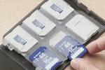 エレコム、SD/micro SDカードをコンパクトに収納できるケース