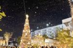 さいたま新都心に雪が降った! コクーンシティのイルミネーション点灯式