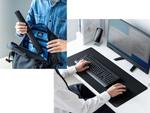 フルキーボードを置いてマウスも操作できる大型サイズのマウスパッド、サンワダイレクトにて発売
