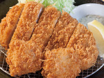 松のや「ロースかつ&ホタテフライ定食」青森県産の帆立を使用