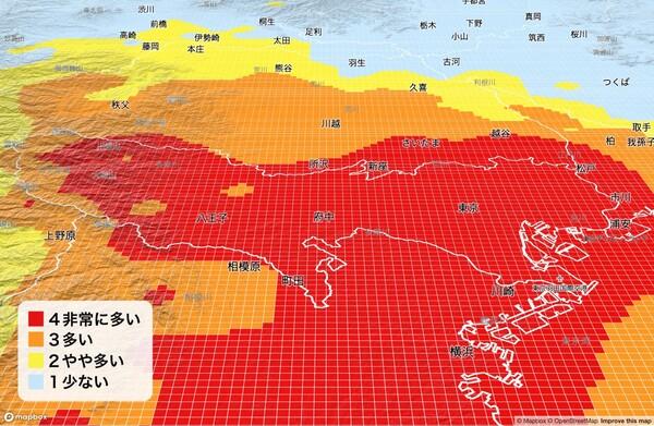 「1kmメッシュ花粉予報API」をウェザーニューズが1月20日より提供開始
