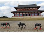 四足歩行ロボットによる巡回実験、国営平城宮跡歴史公園にて実施