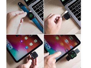USB-CポートからいつでもどこでもApple Watchを充電できる超小型磁気充電ドック