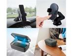 車内で便利なQi充電スマホホルダーと小物を衛生的に使える除菌ボックス、エレコムより