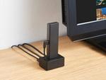 有線LANポート搭載のFire TV Stick用スタンド型アダプター、エレコム