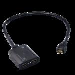 4K映像をフルHD画面にも表示できる2出力HDMI分配器、ラトックシステム