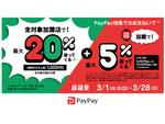 3月1日から小田急百貨店で最大20%還元!「超PayPay祭 ODAKYU×PayPay」スタート