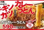 【本日発売】かつや、肉×うどん×カレーの「チキンカツカレーうどん」