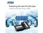 4KのHDMI映像信号を100mまで延長可能、PoE対応エクステンダー