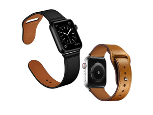 純正シリコンバンドと同形状! 使うほどなじむ牛革製Apple Watchバンド