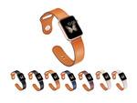 純正スポーツバンド形状で着けやすく本革の風合いのPUレザー製「ピンバックル レザー Lite for Apple Watch」が2880円