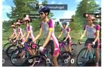 バーチャル自転車アプリ「ONELAP」世界版のアンバサダー・ANGELのアバターが登場。メンバーと一緒にトレーニング!