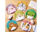 エレコム、ぷにぷに感触の動物たちがデスクをかわいく彩るリストレスト付きアニマルマウスパッド発売