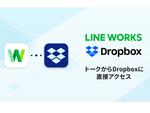 LINE WORKS、トーク画面からのDropboxファイルの共有がワンタッチに