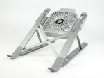 着脱可能な冷却ファン付きで、折り畳んで持ち運べるアルミ合金製ノートPCスタンド発売