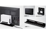 TVの背面スペースを有効活用できる収納アイテム3タイプ、エレコムより