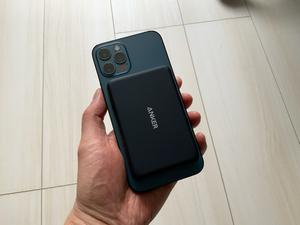 iPhoneをワイヤレス充電できるAnkerのモバイルバッテリーが外出先で便利! アップルMagSafeにも対応