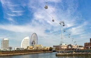 【横浜観光】まるでアトラクション! 桜木町駅と新港エリアを結ぶ都市型循環式ロープウェイが運行開始