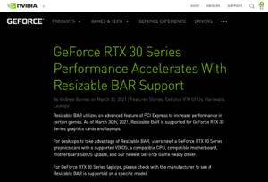 「Resizable BAR」の効果をGeForce RTX 30シリーズまとめて検証!人気ゲーム13本でフレームレートを計ってみた