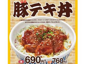 なか卯「豚テキ丼」濃いタレで間違いなし!!!
