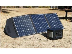 最大出力120Wの折りたたみ式ソーラーパネル充電器、5月14日発売