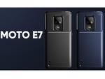 耐衝撃素材TPU&指紋が付かないカーボン模様のデザイン MOTO E7向けスマホケース