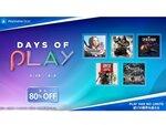 最大80%オフ!PS Storeで「Days of Play」セールが5月26日より開催
