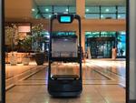 異種ロボットの連携でビル内配送を自動化、QBITが実証実験