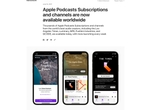 Apple Podcastのサブスクリプションサービスを開始