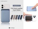 MagSafeでiPhoneに貼り付けられるカード入れ、「MagSafe Full Grain Leather カードケース レザーウォレット」が5600円
