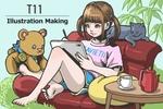 イラストレーター・てりィ's Factoryが人気タブレット<LAVIE T11>で週刊アスキーの特集イラストを描く!