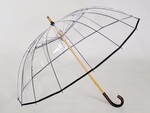 風が強い雨の日でも、安心・安全な逆支弁を採用! 究極の高級ビニール傘「かてーる16桜」