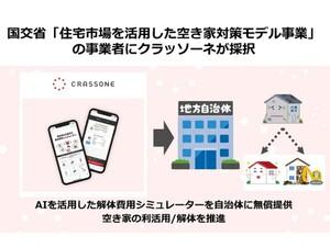 AIによる解体費用シミュレーター活用した空き家の利活用/解体をクラッソーネが推進