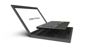 FM-8以来40周年を迎えた富士通、記念碑として世界最軽量ノートのキーボードを