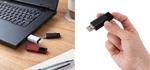 エレコム、PS4/PS5対応のノック式USBメモリー型外付けSSD