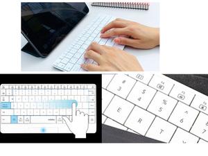 キーボード面をなぞればタッチパッドに、スリムでコンパクトワイヤレスキーボード「mokibo(英語配列 ホワイト)」