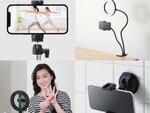 リングライトやスマホ用三脚など動画配信をサポートするアクセサリー3製品7モデル、エレコムから