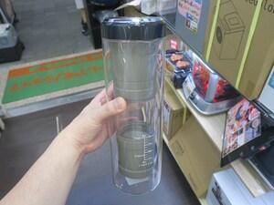 どこでも水出しコーヒーが飲めるUSB充電式の「超高速水出し珈琲ボトル」