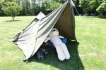 マツダ ロードスターRF 車中泊が無理ならテントがあるじゃない