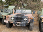 米軍車両ハンヴィーに海兵隊のライセンスプレートを付けました