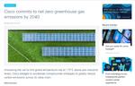 シスコ、2040年までに温室効果ガス排出ゼロ達成を公約。全社でSDGsを加速