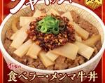 【本日復活】すき家「食べラー・メンマ牛丼」