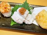 この値段でいいの!? スシロー「国産天然はも」湯引き、天ぷらが一皿に!うまかったよー
