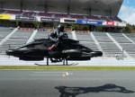 """""""空飛ぶバイク""""富士スピードウェイで有人走行パフォーマンスを実施"""